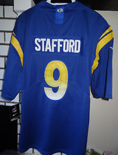 #9 Matthew Stafford Los Angeles Rams Men's Stitched Jersey Size Large