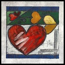 Ria Heart IV póster imagen son impresiones artísticas con marco de aluminio en negro 60x60cm