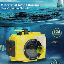For Olympus TG-3/TG-4 yellow 195FT/60M Sea frogs Underwater camera waterproof...