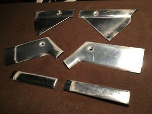 1957 Nash Ambassador Custom OEM rear side window chrome trim pieces