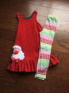 Girls Chtistmas Tunic With Matching Leggings Size 6x