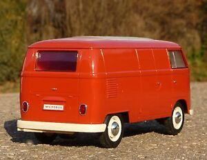 RC VW BUS T1 Modell TRANSPORTER mit LICHT Länge 26cm Ferngesteuert 27MHz  405085