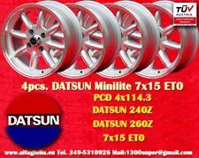 4 Cerchi Nissan Datsun 240 260 280 7x15 4x114.3 ET0 Wheels Felgen llantas jantes