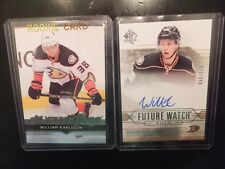 William Karlsson 2 card lot - SPA Future Watch Auto and UD Ser. 1 Young Guns