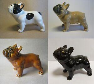 French Bulldog porcelain figurine, handmade, dog figurine