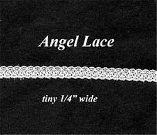 """Trim TINY Angel LACE 1/4"""" wide 12 Yards Sewing Doll Clothes Vintage WHITE Lot 47"""