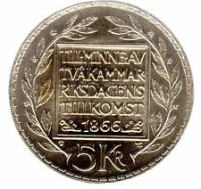 5 Kronen (Kroner) Schweden (Sverige) 1966 100 J. Verfassungsreform (unz/prägefr)