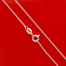 16 Inch 1.1mm Solid   Sterling Silver Curb Chain Necklace Link Lady Gift