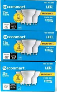 (3 Boxes) Ecosmart Bright White LED 1001 654 098 35w Replacement 3 Count Bulbs