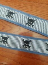Boys Belt 2t Skulls Navy Blue White Stripes Toddler Boy size 2 T