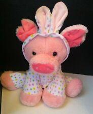 Dan Dee Collectors Choice Stuffed Animal Pink Plush Pig In Easter Bunny Costume