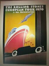 Rolling Stones European Tour 1970 &Warner Bros Music 2 Sided 70s Poster 15x10 90