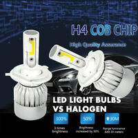 1x Super Bright H4 C6 36W 3800LM 6000K Car LED Headlight Hi/Lo Turbo Light Bulbs