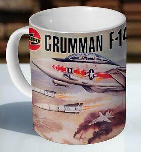 Airfix Gruman F.14A Tomcat Box Art Ceramic Coffee Mug - Cup