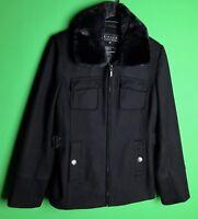 Giacca a GALLERY Company Women's Black Peacoat Jacket Size Medium