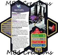 Heroscape Custom DC Batgirl Gotham Figure With Double-Sided Card!