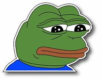 1 Pepe The Frog Meme Vinyl Stickr Jam Parody App Car Window Decal Bumper Sticker