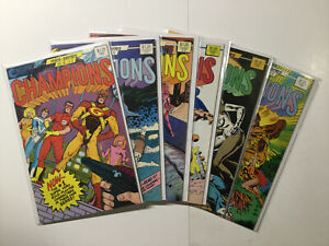 Champions 1-6 Mini Series 2 3 5 6 Lot Run Set Near Mint Nm Eclipse Comics