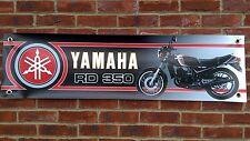 BR72 Yamaha RD350 LC 350LC 4LO Negro/Rojo Clásico Racing bandera signo de taller