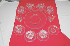 Imperial Glass Candlewick 18 Pc Set with Cups, Saucers, Creamer & Sugar M4092