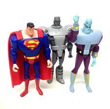 "DC Comics Justice League 5 ""CARTOON cifre x 3 SUPERMAN, acciaio, BRAINIAC"