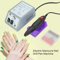 Professional Electric Acrylic Nail Art File Drill Set Manicure Machine Sand Kit/