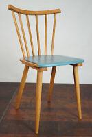 Vintage Esszimmer Stuhl Rockabilly Cocktail Sessel Küchenstuhl Retro blau 50er