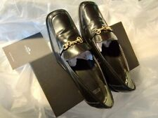 LIKE NEW Coach Logo Black Patent Leather Pump Loafer Women's US 7 M, ITALY, $595