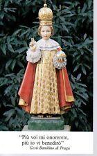 834 Gesù Bambino di Praga Santino HolyCard