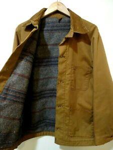 M Vtg Wrangler Big Ben Canvas Blanket Lined Distressed Workwear Work Jacket Coat