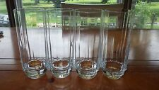 Clear Crystal Ice Tea Glasses Coolers Paneled bowl Round bottom 4 14oz elegant