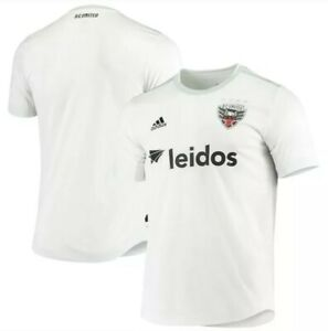NWT D.C. United Adidas Authentic Away Jersey White Soccer MLS Leidos XL MSRP $75