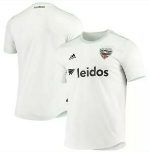 NWT D.C. United Adidas Authentic Away Jersey White Soccer MLS Leidos L MSRP $75