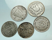 GROUP LOT of 5 Old SILVER Europe or Other WORLD Coins for your COLLECTION i75776