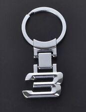 """BMW 3 Series Car Logo Keychain Silver 2"""" US Seller"""