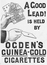 Ogden's Guinea Gold sigarette carte da gioco-Vittoriano annuncio 1897