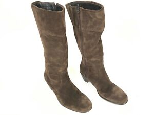 Dansko Womens Boots ZIPPER ISSUE Brown Suede Leather Knee High Size EU 39 US 8.5