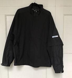 FootJoy HydroLite Black Mens Golf Rain Jacket with Zip Off Sleeves Company Logo
