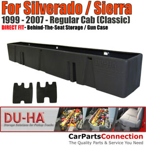 DU-HA 10026 Behind The Seat Storage for 99-07 Silverado Sierra Regular Cab Black