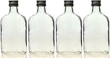 50 x 100 ml leere Glasflaschen Taschenflasche Flachmann Flasche 0,1 Liter