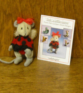 "DEB CANHAM Artist Designs LADY BUGSIE, Deb's Little Gems mice Coll., 2.75"" LE"