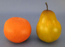 Faux Fake Fruit Pear and Orange Plastic Rubber Decorative Staging Prop