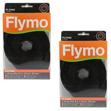 2 x Genuine Flymo Microlite Minimo Hover Vac Mow 'n' Vac Cutting Disc & Blades