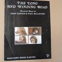songsheet THE LONG AND WINDING ROAD, John Lennon, Paul McCartney, Beatles 1970