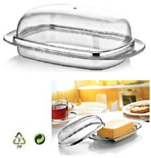 Butter Dish With Lid Kitchen Dining Table Serving Box Transparent Tray Container