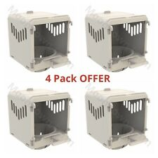 4 x Canary Nest Pans Luxury External Nest Boxes For Canaries, Small Birds