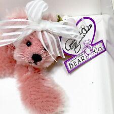 "New Vintage Annette Funicello Bear Co. 9"" Plush Bear - Peach Parfait Coa & Tags"