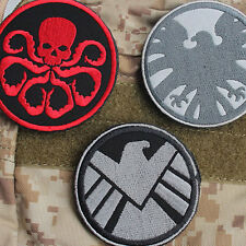 3Pcs The Avengers S.H.I.E.L.D Hydra Morale a suit of Embroidered Badge Patch