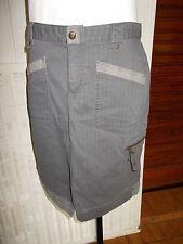 Jupe  droite aux genoux coton gris stretch COLUMBIA 10UK 38/40FR Fendue devant