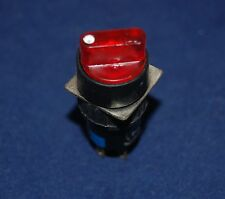 2PCS 16mm Round ILLUMINATED Selector switch 3 Position RED 220V LED MAINTAIN